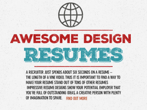 design resume ad small